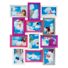 Collage Photo Frame - Hot Pink