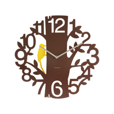 Karlsson Woodpecker Wall Clock