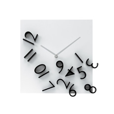Make your home special with this striking Falling Numbers designer wall clock!