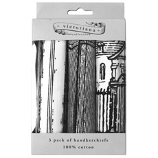 Victoriana Handkerchiefs - Pack of 3