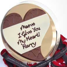 Personalised Chocolate Love Heart