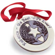 Personalised Giant Chocolate Medal