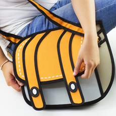 Stand out and bemuse with this hipster accessory, the 3D Cartoon Satchel!