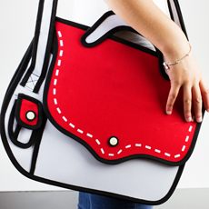 3D Cartoon Satchel - Red