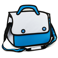 Add some cartoon vibes to your day with this 3D Cartoon Satchel!