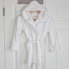 Personalised Egyptian Cotton Child's Hooded Bathrobe