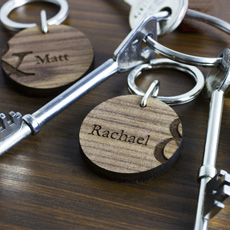 Personalised Couples Keyring Set