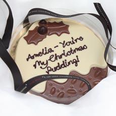 Personalised Chocolate Christmas Pudding