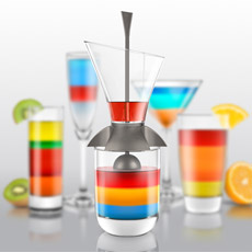 Create a rainbow striped cocktail creation!