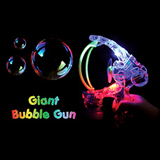The Light Up Giant Bubble Gun is the ultimate bubble maker!