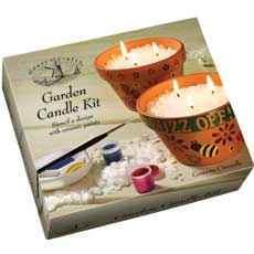 Get creative and make your own garden candles!