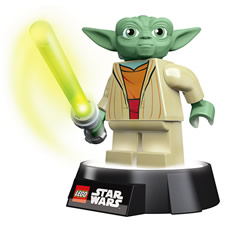 The Yoda Night Light and Torch is the perfect bed side friend for any lover of Star Wars and Lego Star Wars!