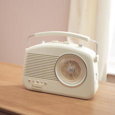 Steepletone Brighton Retro Style Radio - Beige