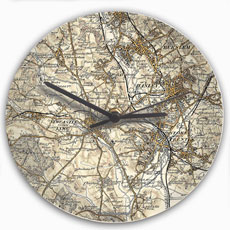 Personalised Map Glass Clock