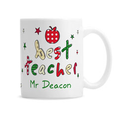 Personalised Best Teacher Mug