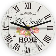 Personalised Shabby Chic Glass Clock
