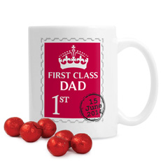 Personalised 1st Class Mug With Chocolates