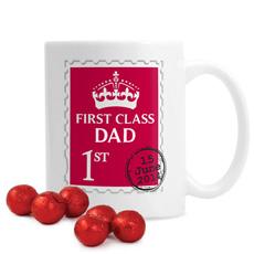 Personalised 1st Class Mug With Chocolates
