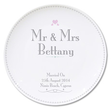 Personalised Mr & Mrs Wedding Plate