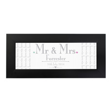 Personalised Mr & Mrs Wedding Print