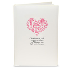 Personalised Ruby Damask Heart Album