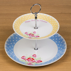 Pretty personalised ceramic cake stand!