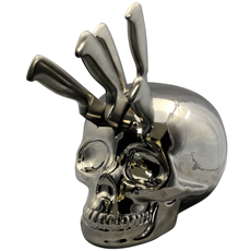 If you have a taste for the macabre then this Skull Kitchen Knife Block is the perfect addition to your home!