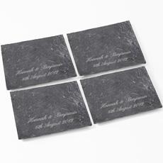 Personalised Slate Coasters - Set of 4