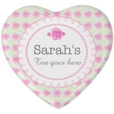 Personalised Rose Heart Coaster