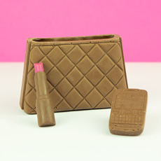 Mock Croc Chocolate Handbag