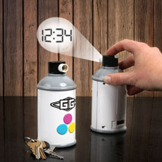 Feel rebellious with this awesome Spray Paint Projection Clock!