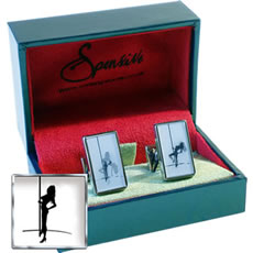 Spensive Dimensions Pole Dancer Cufflinks