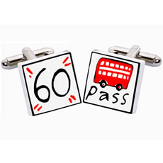 Sonia Spencer 60 Bus Pass Cufflinks