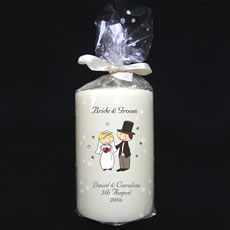 Personalised Cartoon Wedding Candle