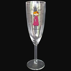 Personalised Cartoon Wedding Glass