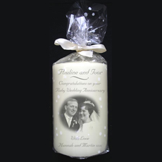 Personalised Wedding Photo Candle