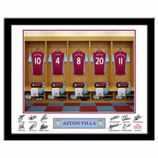 Personalised Football Team Dressing Room Photo
