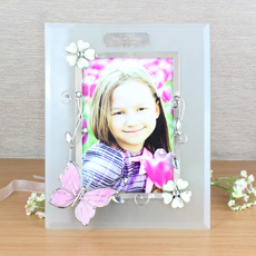 Personalised Butterfly Photo Frame