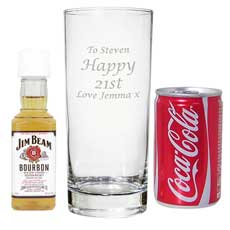 Personalised Jack Daniels & Coke Gift Set