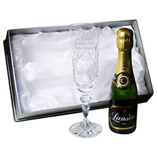Personalised Miniature Crystal Champagne Set