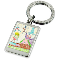 Personalised Children's Art Keyring