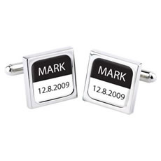Wedding Date Personalised Cufflinks