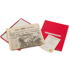 Original Newspaper 40th Birthday (From 1973) in Presentation Box