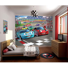 Walltastic Car Racing Mural Wall Stickers
