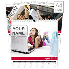 Shop til you Drop Personalised Calendar - A4