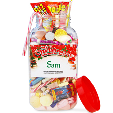 Personalised Christmas Sweetie Jar - Large