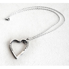 Bespoke Personalised Silver Heart Necklace
