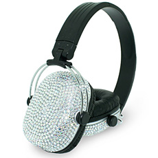 Diamante Headphones - White