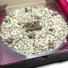 21st Birthday Chocolate Pizza - 10'