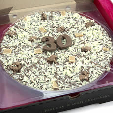 30th Birthday Chocolate Pizza - 10'